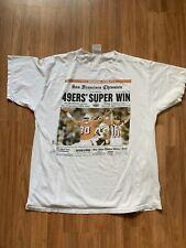 VTG San Francisco 49ers Super Bowl XXIX Front Page Graphic Shirt Size XL Tultex