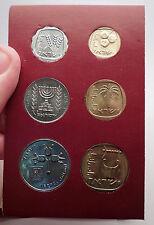 1970 ISRAEL Jerusalem Specimen Set 6 Coins Collection Presentation Album i57013
