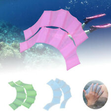 Unisex Frog Silicone Girdles Swimming Hand Fins Flippers Finger Webbed Gloves US
