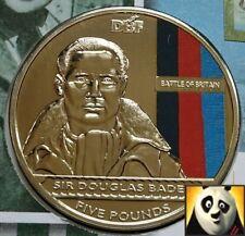 Camiseta de Jersey de 2010 £ 5 cinco libras batalla de Gran Bretaña Sir Douglas Bader moneda Cubierta Fdc