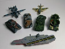 Vintage Micro Machines Military Lot of 7 Vehicles Planes Tanks Aircraft Carrier