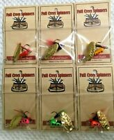 Inline Trout Crappie Bass Spinner American Made Hammered Brass Blades 6 Colors