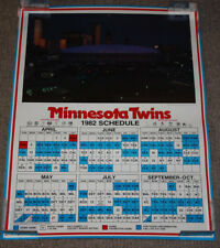 Vintage 1982 Minnesota Twins Schedule Metrodome 25.5x19 Poster