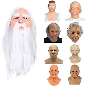 Another Me-The Elder Halloween Holiday Funny Masks Supersoft Old Man Adults Mask