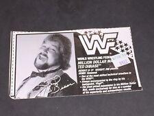 Wwf Wwe Hasbro Million Dollar Man #2 Bio Card cut out for Wrestling Figure