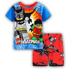 LEGO Batman super Boys pjs pyjamas spring autumn sleepwear size 1-6 in AU
