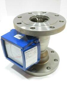 "4"" Krohne H250/RR/M9 CL150 Stainless Steel Variable Area Flowmeter K 85.2 NEW"