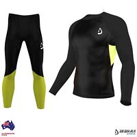 Mens Compression Base layer Tights, Pants/Shirt Skin Fit Yoga,running Rash Guard