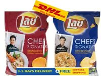 x6 NEW LAY Chef's Signature FamousThai chef Potato Chips SnacksThai Food Recipes