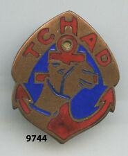 Insigne troupes coloniales, Rgt. de Marche du TCHAD  , ( organeau non émaillé )