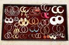 32 Piece Vintage & Modern Mixed Style Pierced Hoop Earring Lot