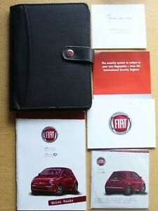 GENUINE 2007-2015 MK2 FIAT 500 OWNERS MANUAL ON CD AND QUICK GUIDE HANDBOOK