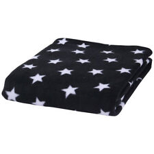 CL5576B Star Fleece Pram Blanket (black) by Clair De Lune