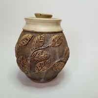 Signed Studio Art Pottery Sugar Bowl or Honey Pot