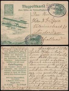DR LZ 11 VIKTORIA LUISE 1912 GS Euler-Flugzeug ZuF Zeppelin Si 16Bb AUSLANDSPOST