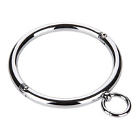 Stainless Steel Neck Ring BDSM Jewellery Round O Ring Protection Collar Choker