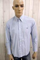 HARMONT&BLAINE Camicia Uomo Shirt Cotone Casual Manica Lunga Chemise Taglia M