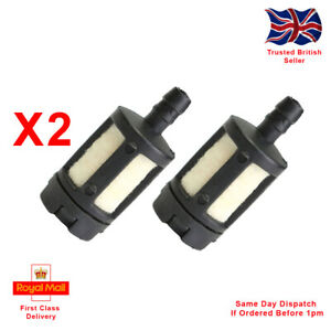 X2 Fuel Filters For Petrol Chainsaws, Leaf Blowers,  Strimmers, Hedge Trimmers.