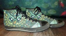 Mens Green Owl Print Bohemian Grove Sneakers size 10