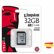 32GO TARJETA MEMORIA SD KINGSTON CLASE 10 32GB ORIGINAL SDHC Memory Card KD32C10