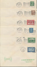 1935 #211-216 George V Silver Jubilee Set of 6 FDCs, WW Stamp Collectors Cachets