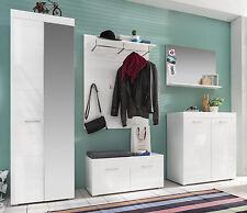 Garderobe WEISS Hochglanz Woody 93-01135