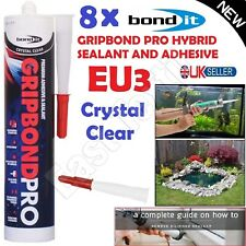 8 Clear Gripbond Pro Super Strong Adhesive Hybrid Polymer Sealant Stick Silicone