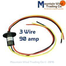 3 wire slip ring 90 amp 4 wind turbine permanent magnet alternator pma pmg