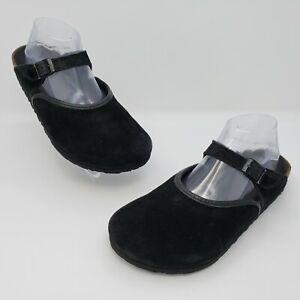 Birkenstock Rosemead Black Suede Mary Jane Mule Slide Size EUR 39 US L8 M6 Regul