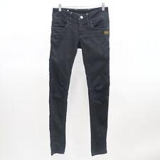 G-Star Raw Womens Skinny Jeans Fender Contour 25/32 Black Denim Low Rise