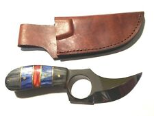 "Deer Creek 6"" Sheath Knife DC-798 BBR Full Tang w/Leather Sheath! Nice Design!"