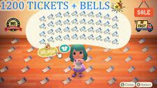 1200x Nook Miles Ticket 🎫 Animal Crossing New Horizon 🏠 + 3 MILLIONS BELLS 🔔