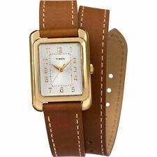 Reloj Timex Para Mujer de Cuarzo Dial de plata tono de Addison Correa de Cuero TW2R89900
