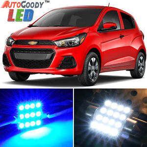 6 x Premium Blue LED Lights Interior Package for Chevy Spark 2013-2019 + Tool