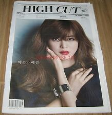 HIGH CUT VOL.169 RYEOWOOK SUPER JUNIOR HAN YESEUL KOREA MAGAZINE TABLOID NEW