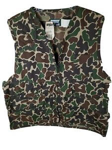 Saf T Bak sz XL Camouflage duck Camo Hunting Vest with Game Pocket  NOS With tag