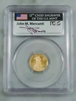2012-W Mercanti Signed Gold Eagle PR70 DCAM First Strike PCGS