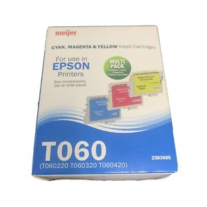 NEW Epson T060 Inkjet Cartridges Stylus Tri-Color T060220 T060320 T060420
