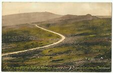 Saddle tor & Ribbon Tor from Heytor, Dartmoor, 1d red stamp,  by Frith