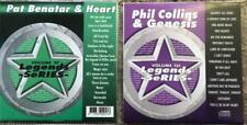 2 CDG KARAOKE LEGENDS DISCS 1980S PHIL COLLINS,PAT BENATAR,HEART,GENESIS CD+G