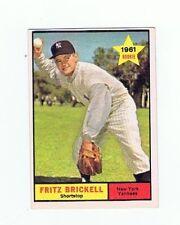 1961 TOPPS  FRITZ BRICKELL   # 333  Baseball Card  NY YANKEES  ROOKIE