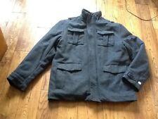 F&F Mens Wool Blend Grey Military Style Jacket Medium NWOT RRP £60 **REDUCED**