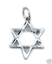 Star of David Charm Pendant Sterling Silver 925 Jewish Symbols Jewelry Gift