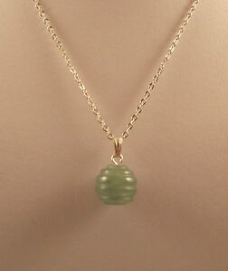 """Various semi precious gemstone beehive pendants and 18"""" silver plated chains."""