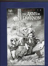DEATH to the ARMY OF DARKNESS #1 1:40 b&w Variant, Cover by SERGIO DAVILA! C@@L!