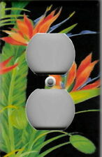 Bird Of Paradise On Black Home Wall Decor Outlet Cover