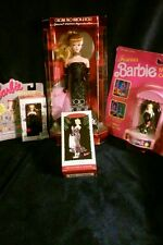 SOLO IN THE SPOTLIGHT '94 Barbie Doll w/'89 mini collector, '95 keychain and orn