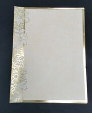 Christmas Writing Paper Gold Embossed Parchment Print Stationary 25 Sheets