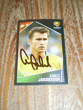 ANDREAS JAKOBSSON - SWEDEN EK 2004 PANINI STICKER ORIGINAL SIGNED !!