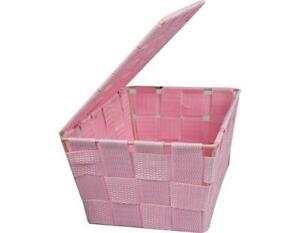 Heavy Duty Woven Fabric Storage Basket Hamper Box Home Decor Kitchen Room Tidy